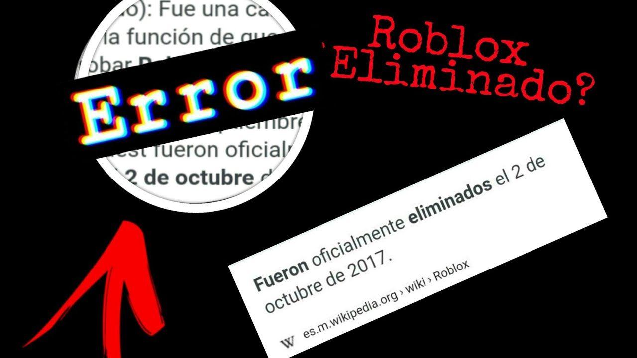 Mañana 10 de Septiembre se borrara Roblox juego famoso